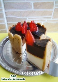 "Sabonete ""Torta de creme e chocolate"""