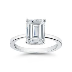 Emerald Cut Engagement Ring