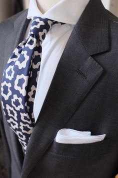 patrickjohnsontailors:  Suit: Ariston Doppio 130's Tie: Drake sfor PJOHNSON For: JA Always Aim2Win!
