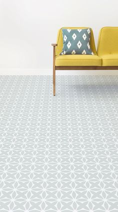 Darling is a Delicate Retro Pattern Vinyl Pattern design that features dainty, floral shapes in a charming tile-like pattern with delicate vintage-style colour schemes. This design is available in soft Light Green and umber Orange. Retro Vinyl Flooring, Vinyl Flooring Bathroom, Bathroom Vinyl, Kitchen Flooring, Bathroom Ideas, Vinyl Sheet Flooring, Kitchen Vinyl, Linoleum Flooring, Brown Bathroom