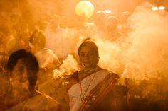 Kolkata during Durga Puja, think about blending....dancers, tipi, sweat lodge, bison.
