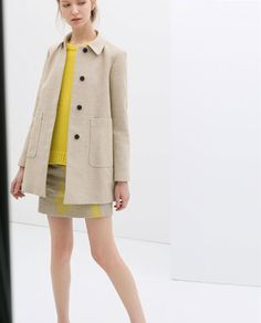 Image 1 of LINEN COAT WITH POCKETS from Zara