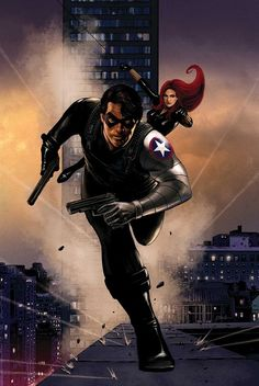 Steve Epting - Winter Soldier and Black Widow