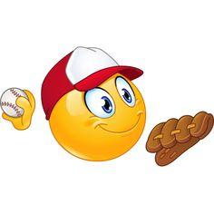 Baseball pitcher emoticon vector image on VectorStock Animated Emoticons, Funny Emoticons, Funny Emoji, Cute Emoji, Clipart, Big Emoji, Emoticon Faces, Smiley Faces, Animiertes Gif