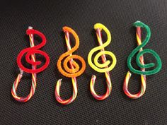 Music with Mrs. Dennis: Treble Clef Candy Cane Ornaments