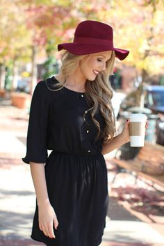 We love our black Around Town Dress with button detailing on the front! Shop Dress Up, Button, Shopping, Clothes, Collection, Black, Dresses, Fashion, Tall Clothing