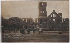 CB&Q Railroad Depot Aft. Fire Galesburg IL Illinois Knox County Osgood