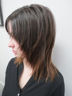 Soft, whispy, lighter ends to compliment the modern shag style...