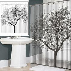 Tree Design Fabric Shower Curtain : $12.99 + Free S/H (reg. $59.99)  http://www.mybargainbuddy.com/tree-design-fabric-shower-curtain-13-99-free-sh