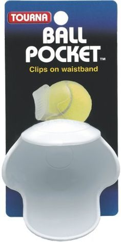 Tourna Pocket Pro Tennis Ball Waist Clip Holder-White by Unique Sports. $3.79. Clips to the waistband and holds tennis ball.