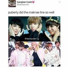 we all love the maknae line, before or after