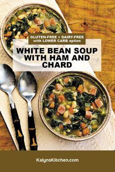 Ham And Bean Soup, Ham Soup, White Bean Soup, Best Soup Recipes, Great Recipes, White Beans And Ham, Recipes Using Beans, How To Soak Beans, Legumes Recipe