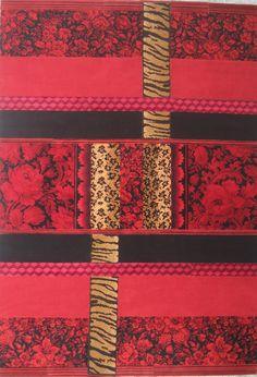 tapis rug carpet patchwork french création  tableau unique descente de lit tapis de couloir pure laine wool paris upcycling artisanat d'art