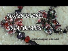 DIY HACER FLORES DE PASTA PARA COLLARES Y PULSERAS - YouTube