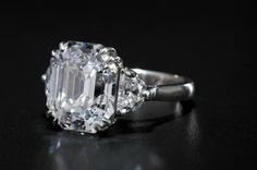 10.8 carat diamond ring, Type 11a and colorless.