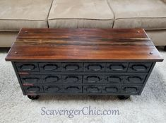 Upcycled Vintage Tool Chest Coffee Table - Scavenger Chic