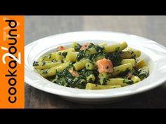 Pasta con spinaci e salmone affumicato   Ricette primi piatti - YouTube