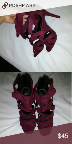 Brand new heels size 7.5 Color burgundy, size 7.5, brand new just without tags, super cute! Madden Girl Shoes Heels