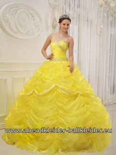 433a8b099e Impressive Sweetheart Ball Gown Beaded Yellow Quince Dresses with Pick-ups  Sweet 15 Dresses