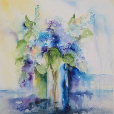 "Saatchi Online Artist: Angela Fehr; Watercolor Painting ""Fragrant"""