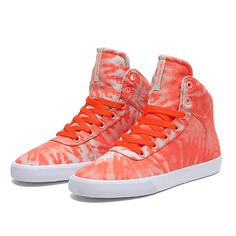 SUPRA WMNS CUTTLER | NEON ORANGE / CEMENT - WHITE | Official SUPRA Footwear Site