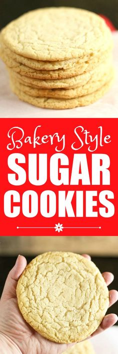 bakery style sugar cookies these soft chewy bakery style sugar cookies ...