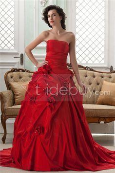 Magnifiques Sans Manche A Longueur Sol Pick-ups chapelle de mariage robe de couleur ligne (Livraison gratuite)