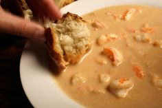 Sherry Shrimp Bisque - I cooked seafood broth much longer and added a bit more spice to it.  Awesome
