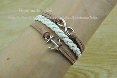 Anchor BraceletInfinity Bracelet Retro Silver by HandmadeTribe, $2.99 Fashion handmade leather bracelet