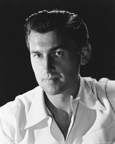 English actor, Stewart Granger (1913–1993). He was a popular leading man from the 1940s to the early 1960s rising to fame through his appearances in the Gainsborough melodramas. Films include: KING SOLOMON'S MINES, MOONFLEET, YOUNG BESS, and THE PRISONER OF ZENDA. (5/6/1913)-(8/16/1993)
