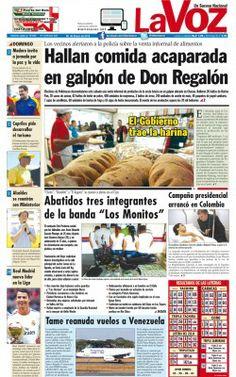 """PORTADA LA VOZ  NOTICIERO COMUNITARIO DEL TUY.@S R.FRANZ FREITES REPORTERO CIUDADANO DE """"LA VOZ""""INFORMANDO LA VERDAD PRIMERO!!!"""
