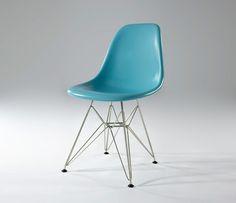 designersrevolt   Eames' Dining Chair DSR-Light-blue Glossy Fiberglass-CH6136-SS-FG010-G ($100-200) - Svpply