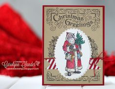 Here's a card I created that was CASED from the Stampin' Up! Holiday Catty. Why reinvent the wheel when there are ideas right in front of us? If you are interested in attending a class in SW Calgary, Canada, then visit my blog. We'll be making this card in a couple of weeks!   #Stampinup #stampinup #FatherChristmas #FatherChristmasStampSet #CASEthecatty #CASE #carebearstamps #stampinupdemo #stampinupdemonstrator #yyc #yycstampinupdemonstrator #stampinupdemoyyc #papercrafts #cardmaking…