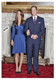 It's hard to forget the iconic blue dress Kate Middleton was wearing when the Duchess and Duke of Cambridge announced they were engaged. Now we have a chance to buy the dress at less than half its original price.