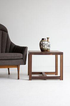 walnut side table wood side table wood furniture by bertucandles, $650.00