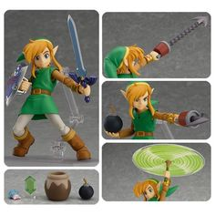 This Legend of Zelda: A Link Between Worlds Link Deluxe Action Figure stands about 4 1/2-inches tall.