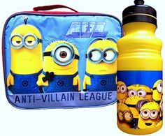 Despicable Me Lunch Box with Pull-top Water Bottle Minion Edition @ niftywarehouse.com #NiftyWarehouse #DespicableMe #Movie #Minions #Movies #Minion #Animated #Kids