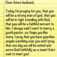 Dear future husband future husband future and future husband quotes so cute for all those single ladies write letters to expocarfo
