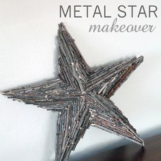Metal Star Makeover with Branches | Love Grows Wild  Take one of those 3 dimensional stars you see in country decor and cover it with branches! Adds texture and dimension and looks great with any decor! #diy #decor