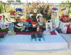 "Alice in Wonderland, Mad Tea / Birthday ""40th uN-bIRTHDAY Tea Party"" | Catch My Party"
