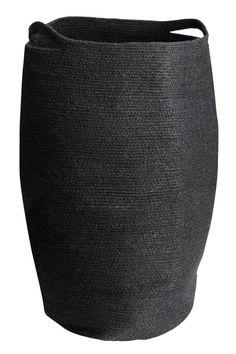 Panier à linge en jute - Noir - Home All | H&M FR 1