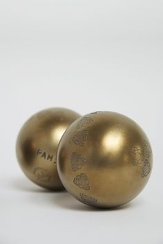 Petanque Balls as they should be - gold.