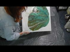 ( 054 ) Request...Big Cells Acrylic Pouring explained. - YouTube