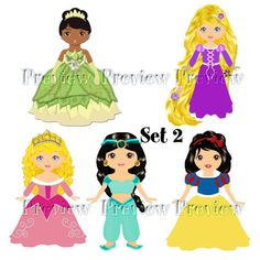 Fairytale Princess Digital Clipart/Princess Clip Art/Cute Princess Digital Clip Art for Personal and Commercial Use/Instant Download on Etsy, $4.85