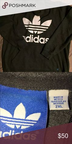 Urban Outfitters Adidas originals Trefoil Logo Men's adidas originals trefoil hoodie 2xl fits more like L/XL. Authentic. Retail $70. Make me an offer!!! adidas Tops Sweatshirts & Hoodies
