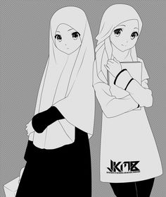 Reina Kousaka and Kumiko Oumae by on DeviantArt Reina Kousaka, Muslim Girls, Muslim Couples, Girl Cartoon Characters, Hijab Drawing, Anime Friendship, Hot Goth Girls, Islamic Cartoon, Image Citation