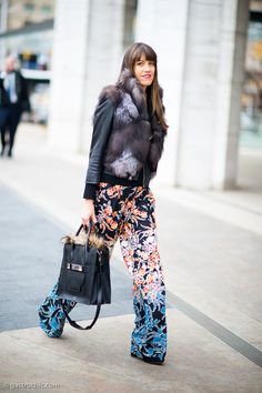 Printed Pants, Outside Timo Weiland #streetstyle #fashion #pants on http://www.gastrochic.com