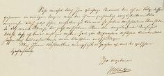 Roentgens Handschrift