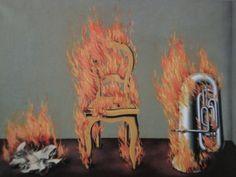 "René Magritte, ""L'Échelle du Feu"", 1934 on ArtStack #rene-magritte #art"