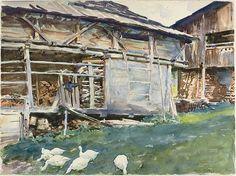 John Singer Sargent's Woodsheds-Tyrol